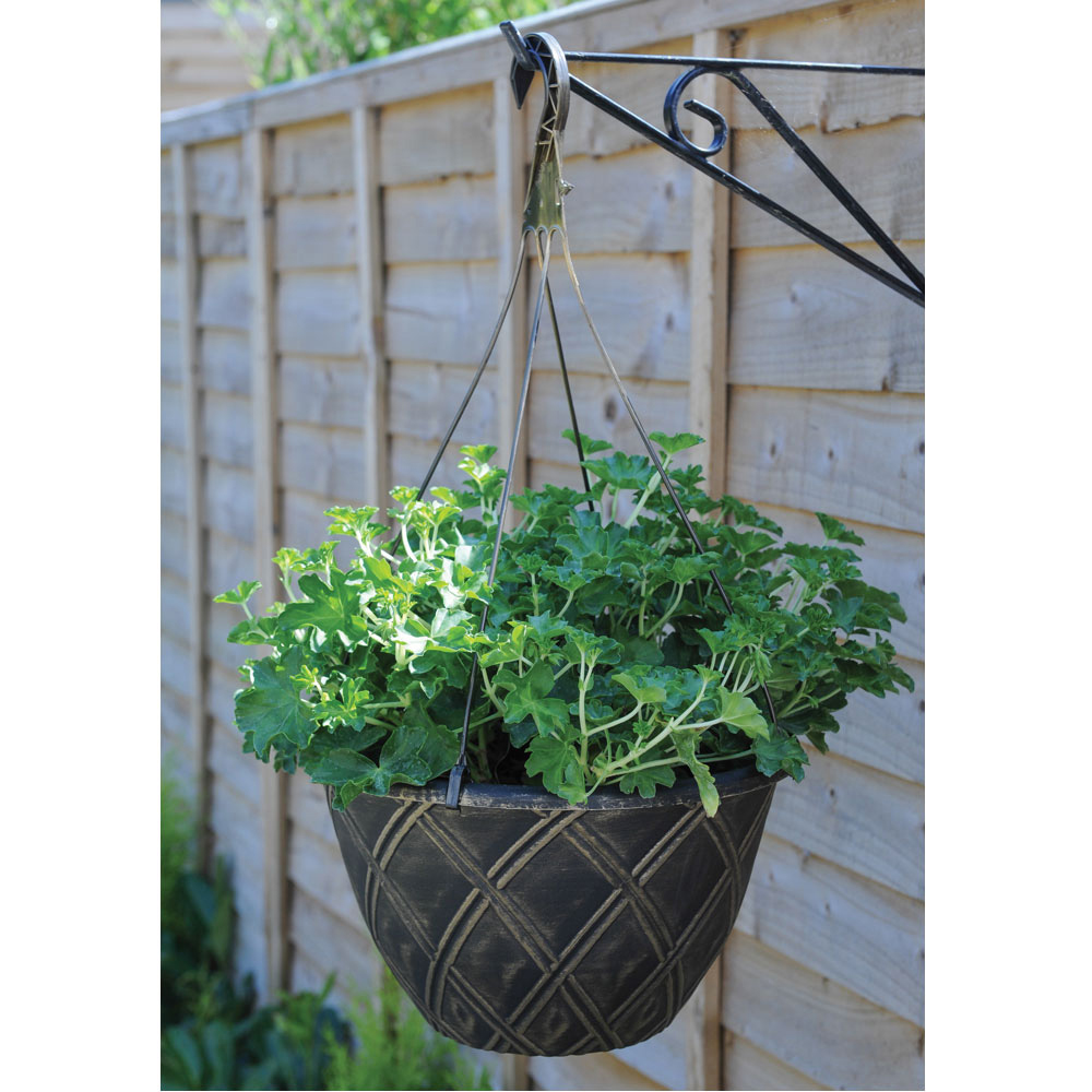 Image of Lattice Hanging Basket with Hanger