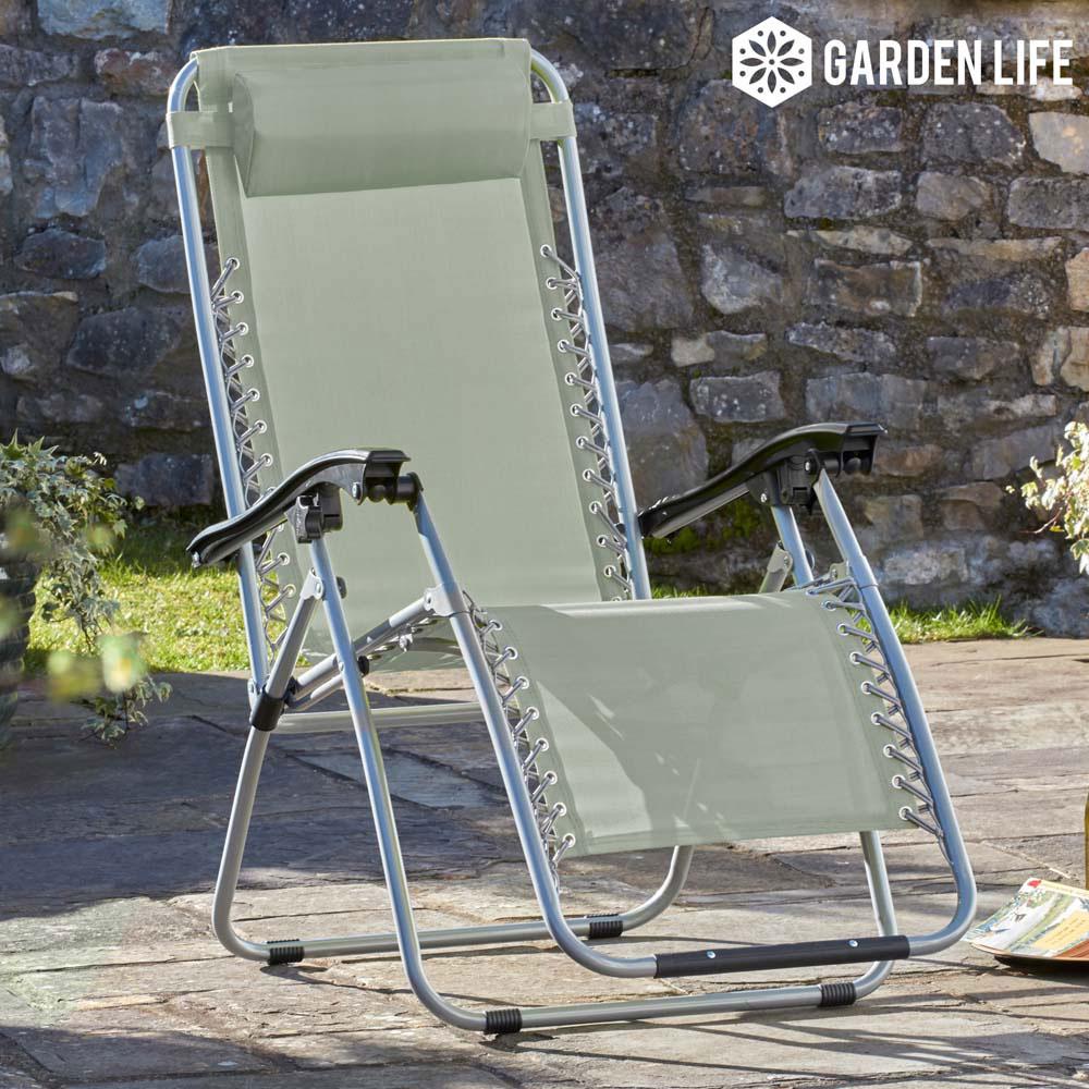Image of Garden Gear Zero Gravity Chair - Stone