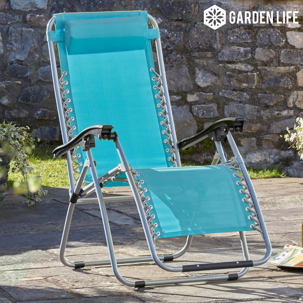 Image of Garden Gear Zero Gravity Chair - Marine Blue