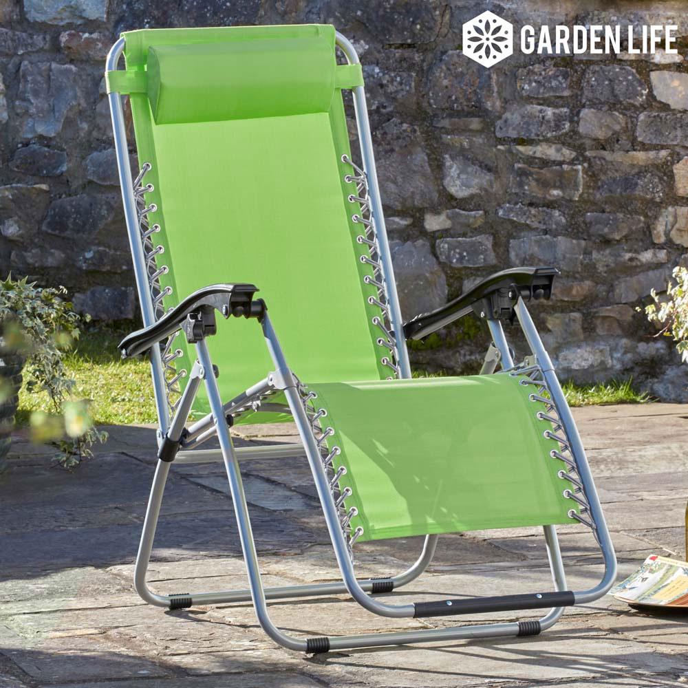 Image of Garden Gear Zero Gravity Chair - Apple Green