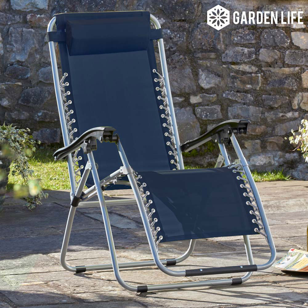 Image of Garden Gear Zero Gravity Chair - Navy