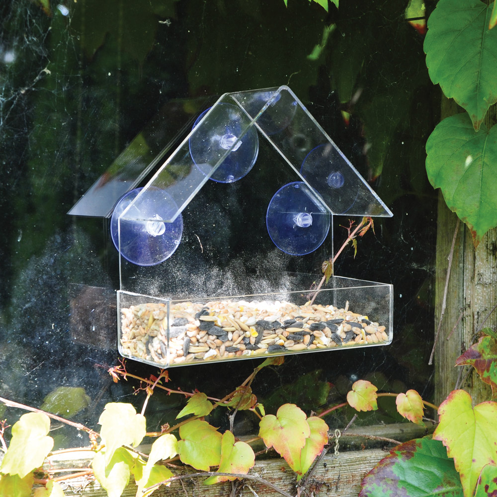 Image of Kingfisher Plastic Window mounted Bird Feeder