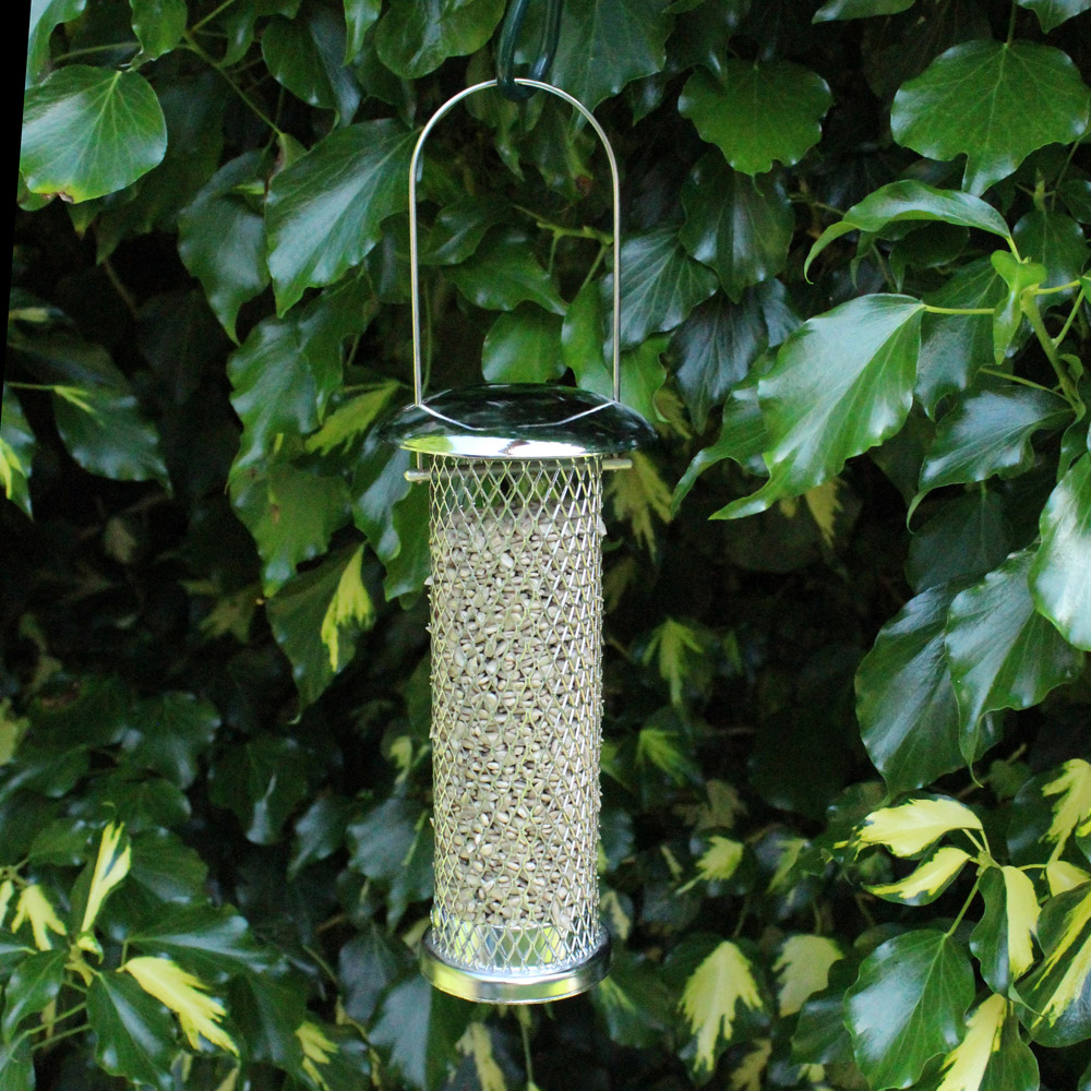 Image of Kingfisher Stainless Steel Sunflower Seed Feeder