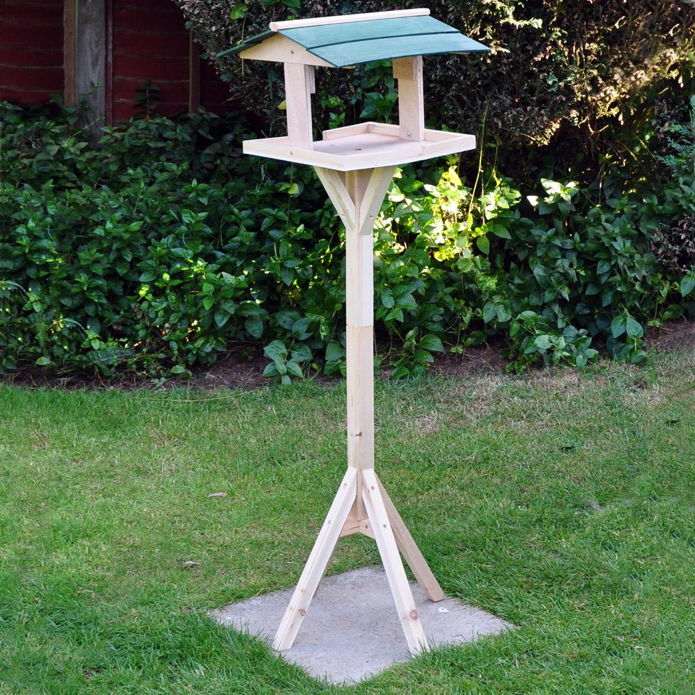 Image of Kingfisher Wooden Garden Bird Table