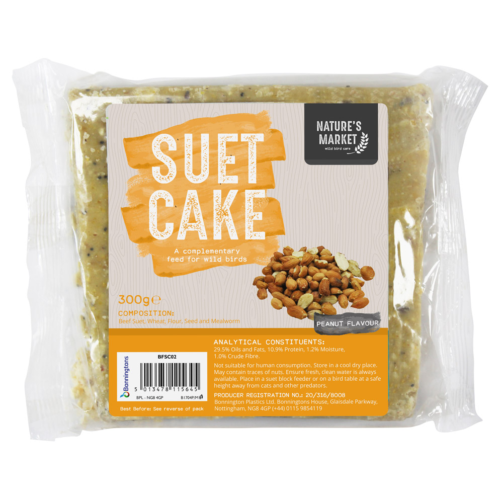 Image of Kingfisher Suet Cake with Peanuts