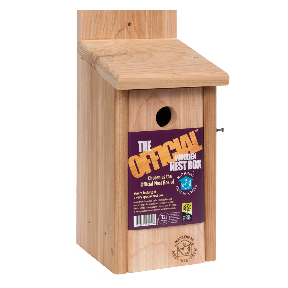 Image of The Official Cedar Nesting Box, With 32mm hole