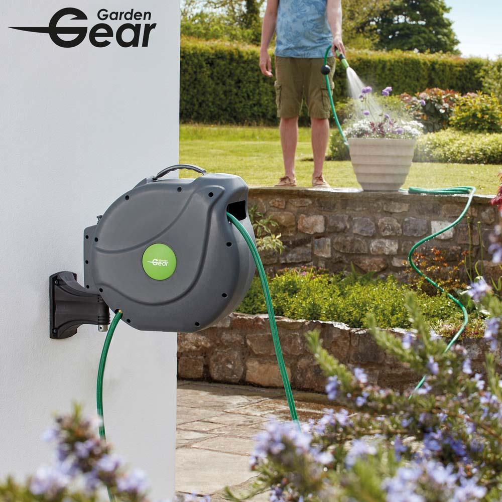 Image of Garden Gear Premium Automatic Rewind Hose