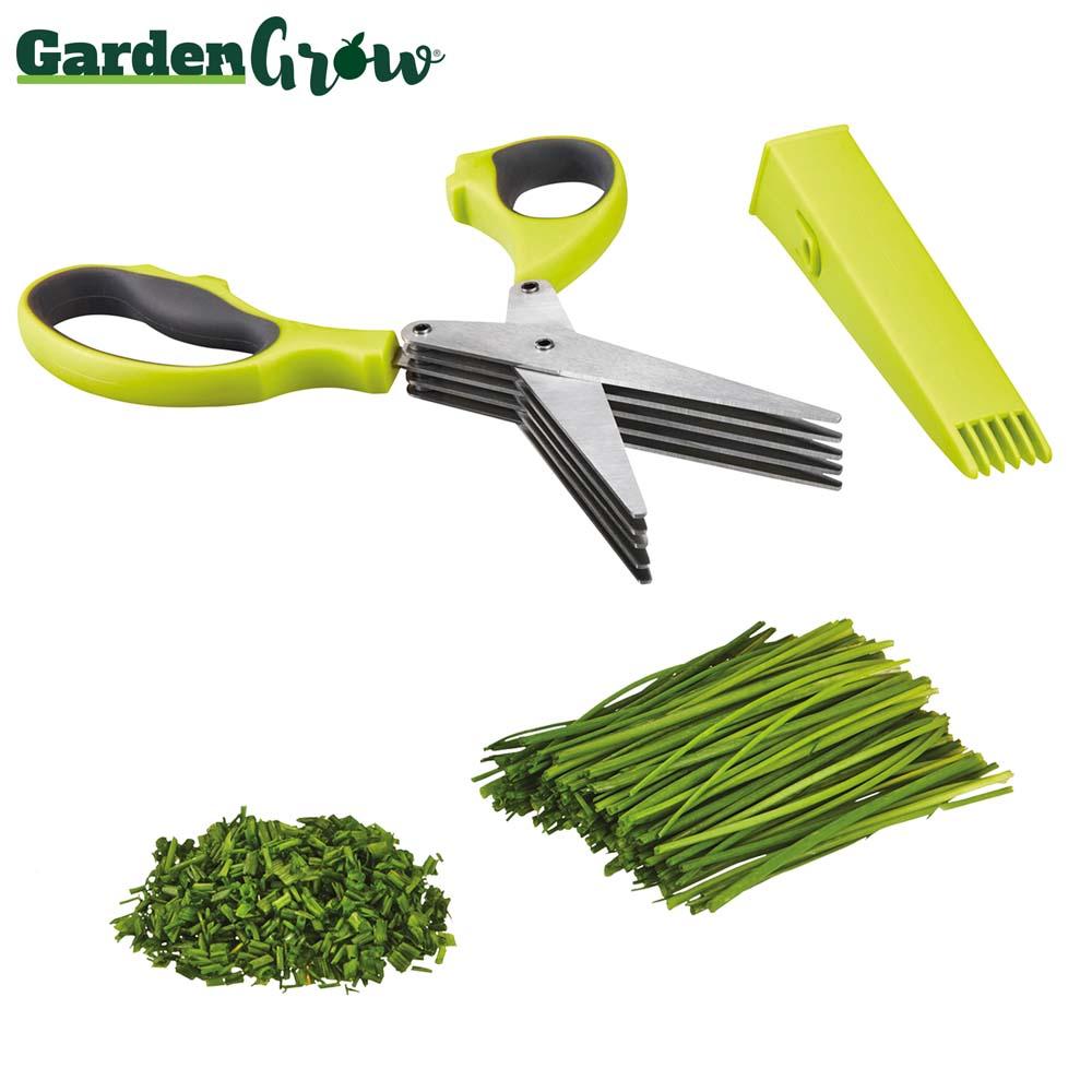 Image of Garden Grow Five-Blade Herb Scissors