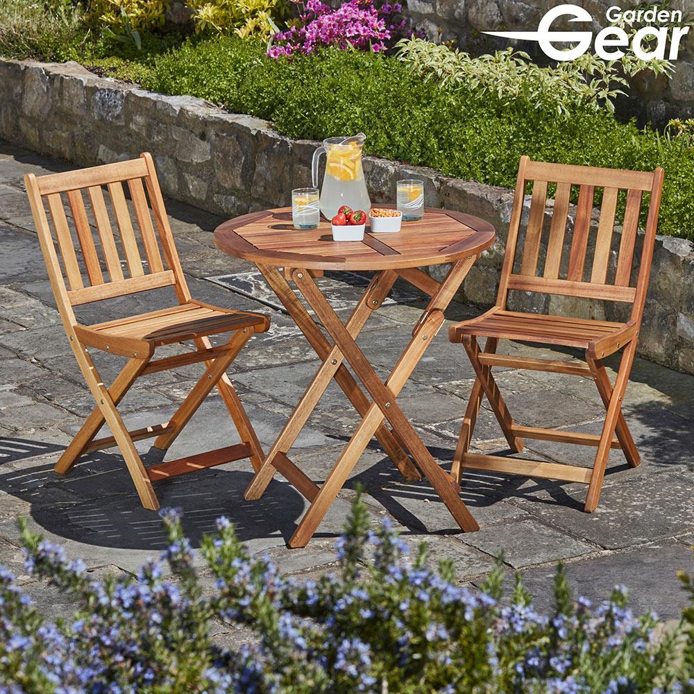 Image of Garden Life Acacia Hardwood Bistro Set