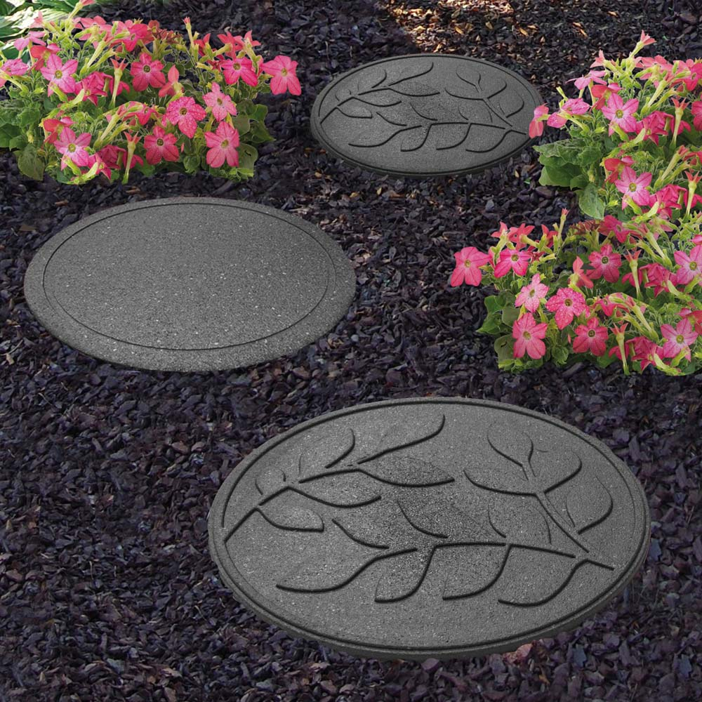 Image of Reversible Eco-Friendly Stepping Stone Leaves - Grey