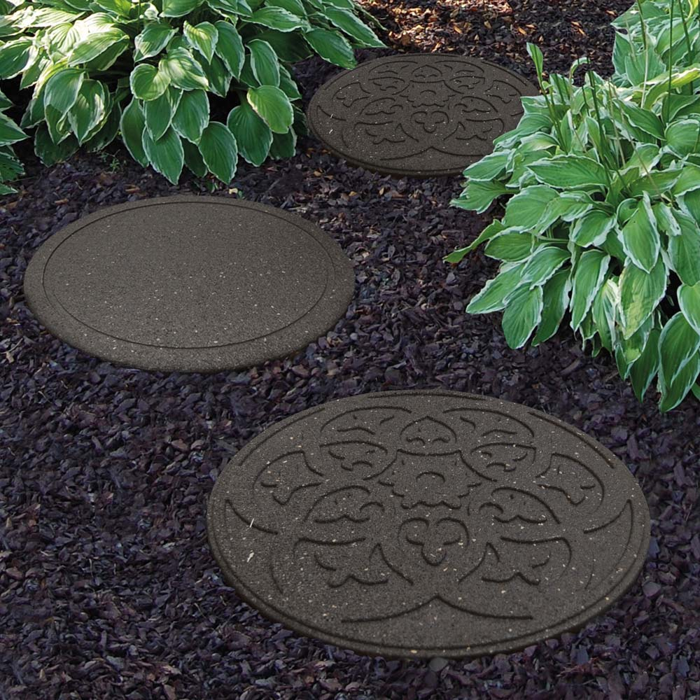 Image of Reversible Eco-Friendly Stepping Stone Scroll - Grey