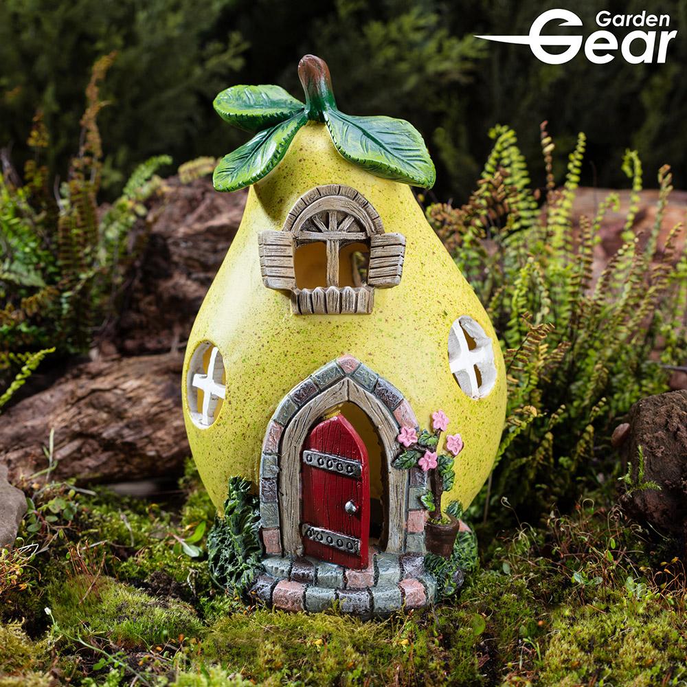 Image of Garden Gear Solar LED Fruit House - Pear