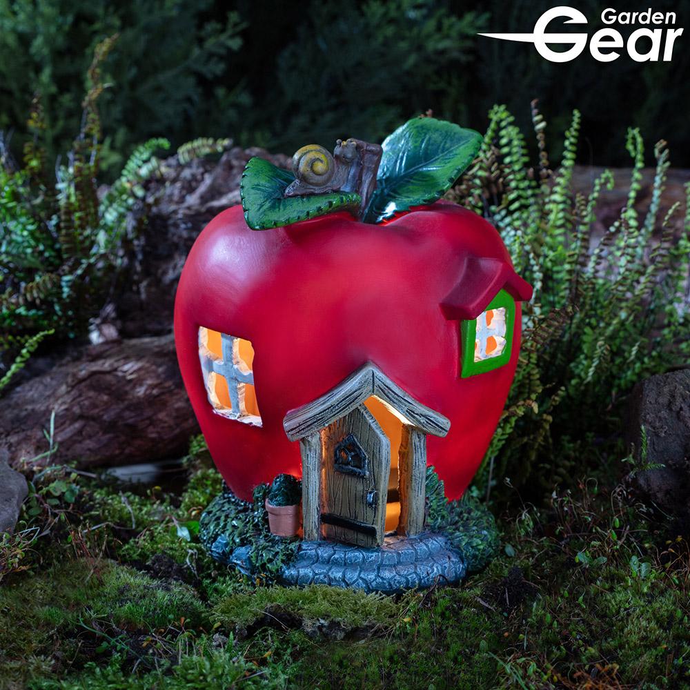 Image of Garden Gear Solar LED Fruit House Apple