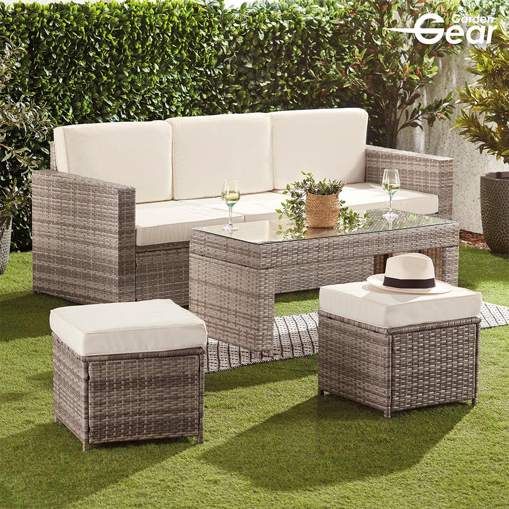 Image of Garden Gear Riviera 5-Seat Rattan Set