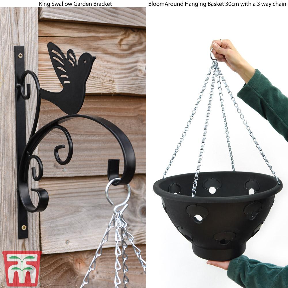Image of Hanging Basket King Swallow Garden Bracket Set