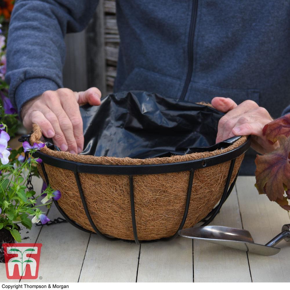 Image of Garden Grow Hanging Basket & Liner