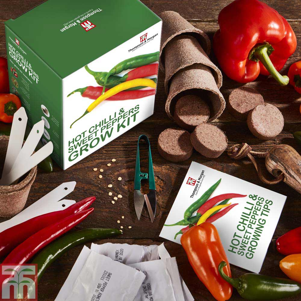 Image of Red Hot Chilli & Sweet Peppers Growing Kit