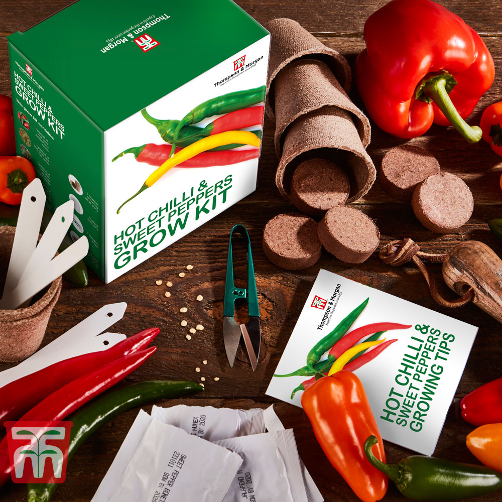 Image of Red Hot Chilli & Sweet Peppers Growing Kit - Gift
