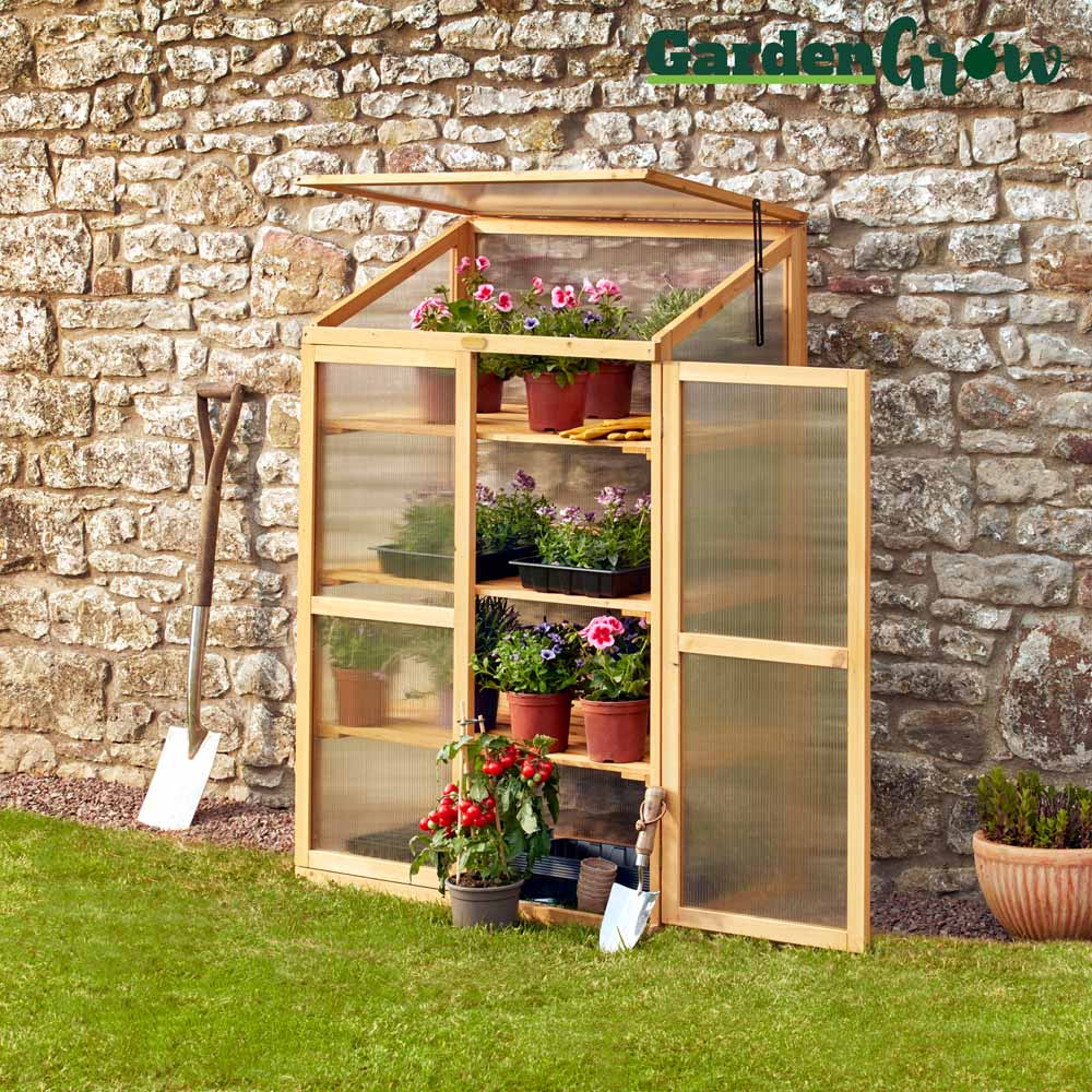 Image of Garden Grow Three-Tier Wooden Cold Frame