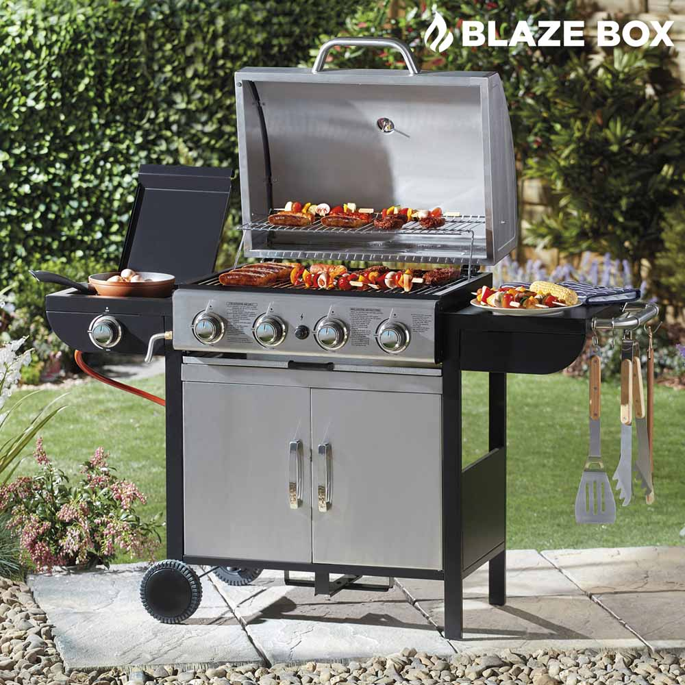 Image of Blazebox 4 + 1 Gas Burner Barbecue