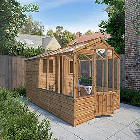 Waltons 10 x 6 Tongue and Groove Combi Greenhouse and Wooden Storage Shed