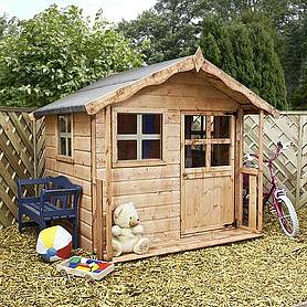 x  waltons honeypot poppy apex wooden playhouse