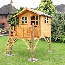 x  waltons honeypot poppy tower wooden playhouse