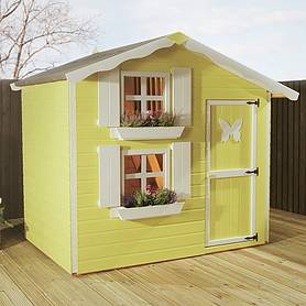 x  waltons honeypot snowdrop apex wooden playhouse with loft