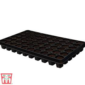60 Cell Black Plastic Seed Tray