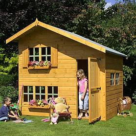 x  waltons honeypot bramble apex wooden playhouse