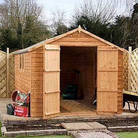 8 x 8 Waltons Overlap Apex Wooden Garden Shed