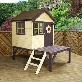 x  waltons honeypot snug tower wooden playhouse