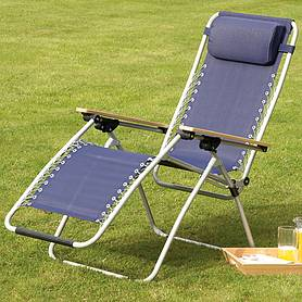 garden gear ultimate zero gravity chair  navy
