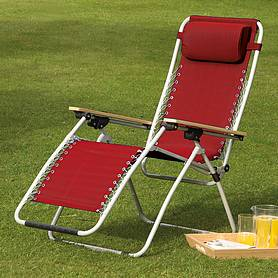 garden gear ultimate zero gravity chair  red
