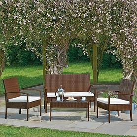Antigua 4Pc Rattan Set - Brown
