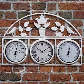 Genial Garden Wall Clock   Cream   L66 X W43.5 X H6cm