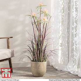 plume grass faux plant   gift