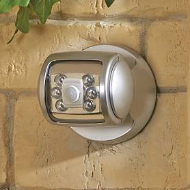 led porch sensor light  silver