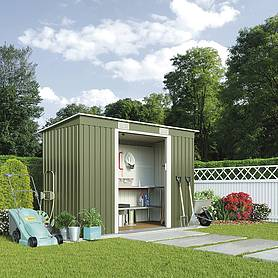 Waltons Pent Metal Shed 8.6 X 4ft