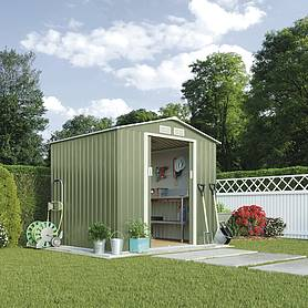 Waltons Apex Metal Shed 9.1X6.3Ft