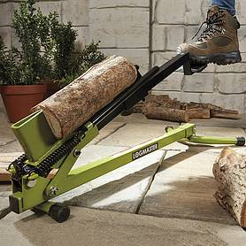 foot operated log splitter