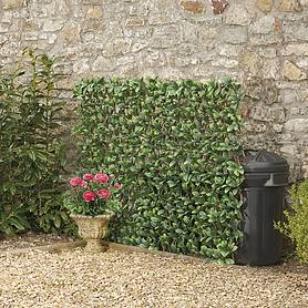 Expandable Artificial Evergreen Laurel Hedge Trellis