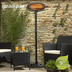 Garden Glow Floor Standing Patio Heater - Graphite