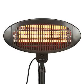 garden glow w floor standing patio heater  black