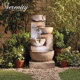 4 Tier Laguna Cascade Water Feature With Light