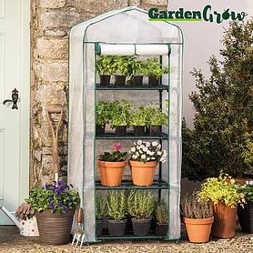 Garden Grow Premium Portable 4 Tier Greenhouse