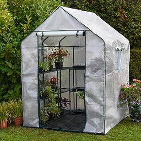 garden grow premium portable  shelf greenhouse