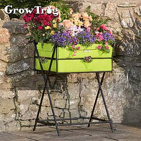lime grow trugreg by bvg group ltd tuscan planter including  of veg seed