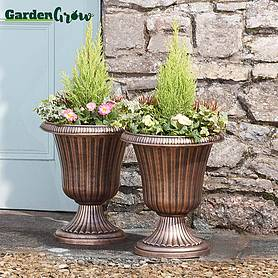 garden grow set of two urn planters