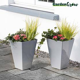 garden grow set of two medium modern planters